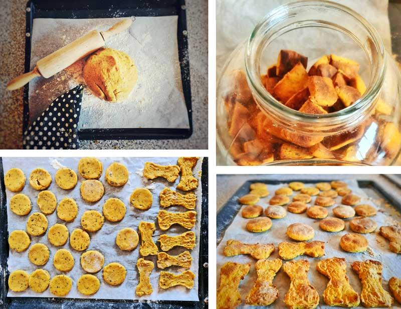 Homemade pumpkin & peanut butter dog treats instructions