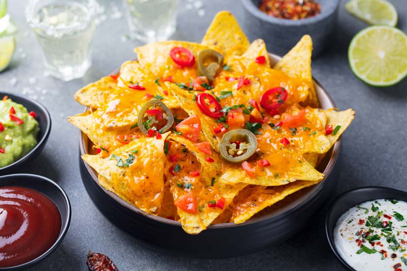 Tortilla  chips with jalapenos