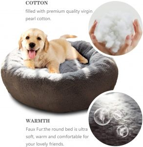 Nonofish anxiety dog bed features