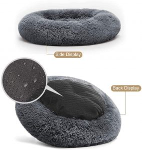 Puppbudd dog bed calming for large dogs