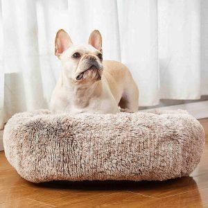 Savfox ling plush confy salming dog bed