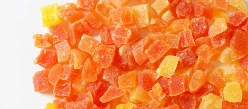Dried Papaya isn't really good for dogs because of too much sugar